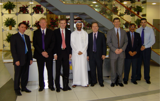 The AME Info team with HSBC Private Equity Middle East in Dubai Media City